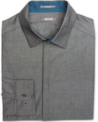 Kenneth Cole Reaction Iridescent Chambray Shirt - Lyst