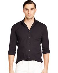 Ralph Lauren Black Label Poplin Sloan Sport Shirt - Lyst