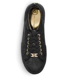 Michael Kors Boerum Logo Leathertrimmed Sneaker - Lyst