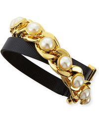 Tory Burch Winchel Pearly Chain Bracelet - Lyst