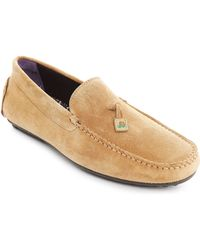 Paul & Joe Clinton Beige Suede Moccasin - Lyst