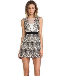 BCBGMAXAZRIA Collier Dress - Lyst