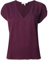 Milly V-Neck Top - Lyst