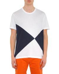 Burberry Brit - Palmby Geometric Cotton T-Shirt - Lyst