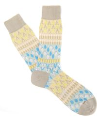 Ayamé - Beige Pouring Rain Socks - Lyst