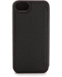 Adopted - Leather Folio Iphone 5 Case - Black/Black - Lyst