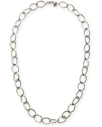 Armenta - Sterling Silver Twisted Link Necklace - Lyst