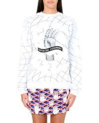 Opening Ceremony Remix Handprint Sweatshirt White - Lyst