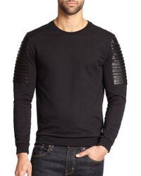 Versace Moto Knit Crewneck Sweater - Lyst