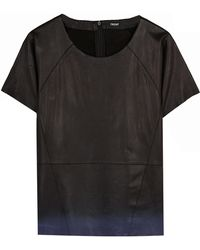 2nd Day Leather Short Sleeve Ombre Tee Shirt - Lyst