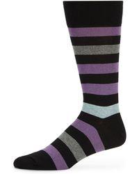 Saks Fifth Avenue Black Label - Rugby Stripe Socks - Lyst