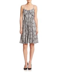 Nanette Lepore Printed A-Line Dress - Lyst