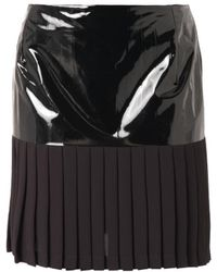 Dion Lee Pleated Crepe Mini Skirt - Lyst