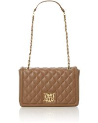 Love Moschino Brown Medium Quilt Shoulder Bag - Lyst