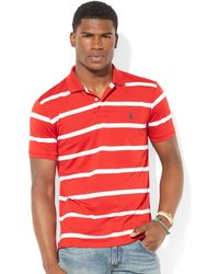 Ralph Lauren Polo Striped Performance Mesh Polo - Lyst