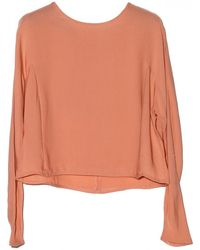 By Malene Birger Letania Blush Silk Top - Lyst