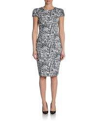 Carolina Herrera Lace Print Dress - Lyst