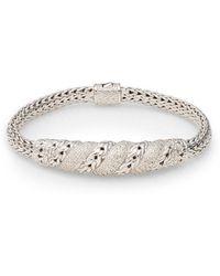 John Hardy Diamond Sterling Silver Bracelet - Lyst