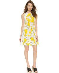 Diane von Furstenberg Samantha Dress - Eden Garden Simple Yellow - Lyst