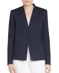 Elie Tahari Abby Perforated Leather-paneled Jacket - Lyst