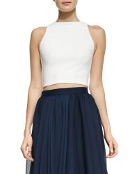 Alice + Olivia Pire Sleeveless Crop Top White Alice Olivia - Lyst