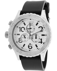 Nixon Men'S 42-20 Chrono Black Polyurethane White Dial - Lyst