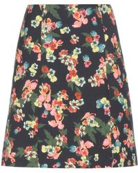 Erdem Calista Cotton Blend Skirt - Lyst