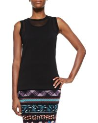 Jean Paul Gaultier Sheer Double-Layered Tank Top - Lyst