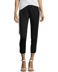 Halston Heritage Contrast-piped Slim Track Pants - Lyst