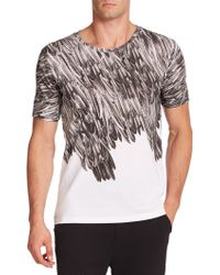 BOSS | Deather Feather-print Tee | Lyst