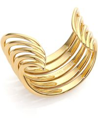 Michael Kors Abstract Cuff Bracelet gold - Lyst
