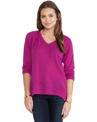 Velvet By Graham & Spencer Yoshi Cashmere Classic Sweater - Lyst