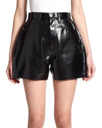 Junya Watanabe - Patent Faux-Leather Shorts - Lyst
