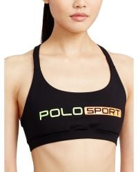 9335f3b9ba444 Polo Ralph Lauren - Crisscross-back Sports Bra - Lyst