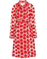 Simone Rocha Embroidered Tulle Trench Coat - Lyst