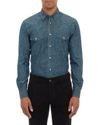 Aspesi Chambray Western Shirt - Lyst