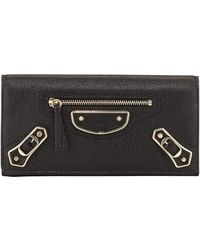 Balenciaga Metallic Edge Classic Money Wallet - Lyst