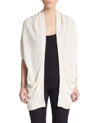 Donna Karan New York Cozy Shrug Silk Sweater - Lyst