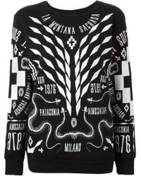 Marcelo Burlon County Of Milan White Printed Sweatshirt - Lyst