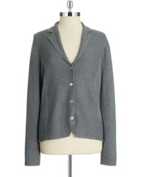 Jones New York Collared Sweater Jacket - Lyst
