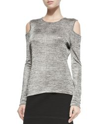Rag & Bone Michelle Cold-shoulder Space Dye Top - Lyst