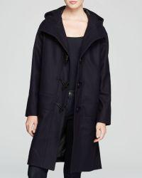 DKNY Hooded Toggle Closure Coat - Lyst