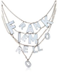 Frankie Morello No War Necklace - Lyst