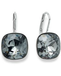 Swarovski Silver-Tone Crystal Drop Earrings silver - Lyst