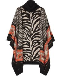 Alice By Temperley Ali Polo Neck Print Poncho - Lyst