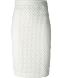 Elizabeth And James Cut-Out Pencil Skirt - Lyst