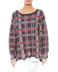 Wildfox Checked Knitted Jumper - For Women - Lyst