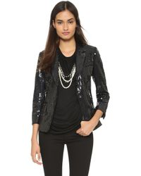 Vera Wang Collection - Sequined Jacket - Black - Lyst