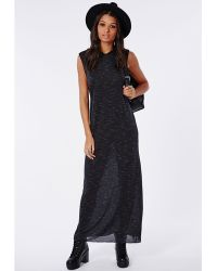 Missguided Hooded Maxi Dress Black - Lyst