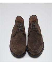 Reiss - Matt Suede Desert Boots - Lyst